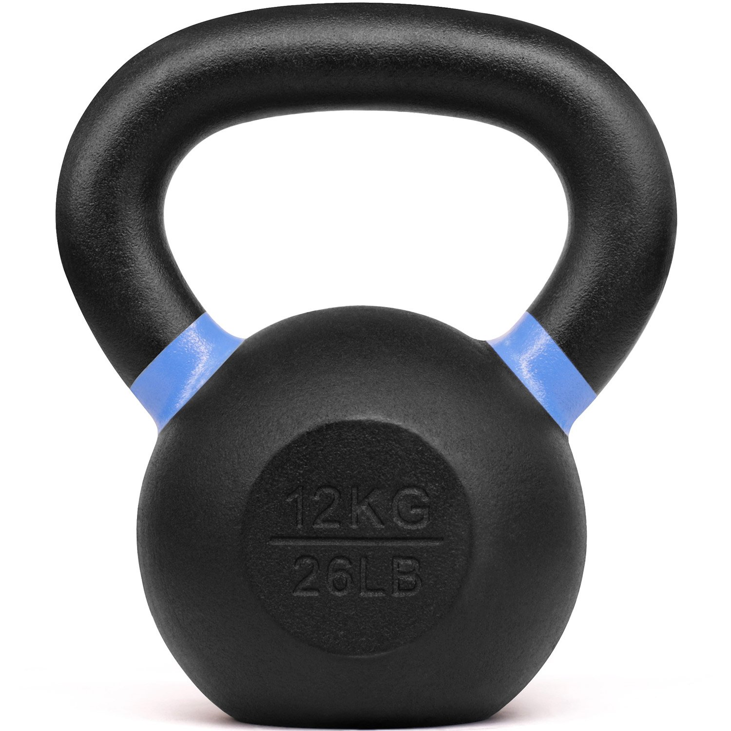 Yes4All Powder Coated Kettlebell Weights with Wide Handles & Flat Bottoms – 12kg/26lbs Cast Iron Kettlebells for Strength, Conditioning & Cross-Training
