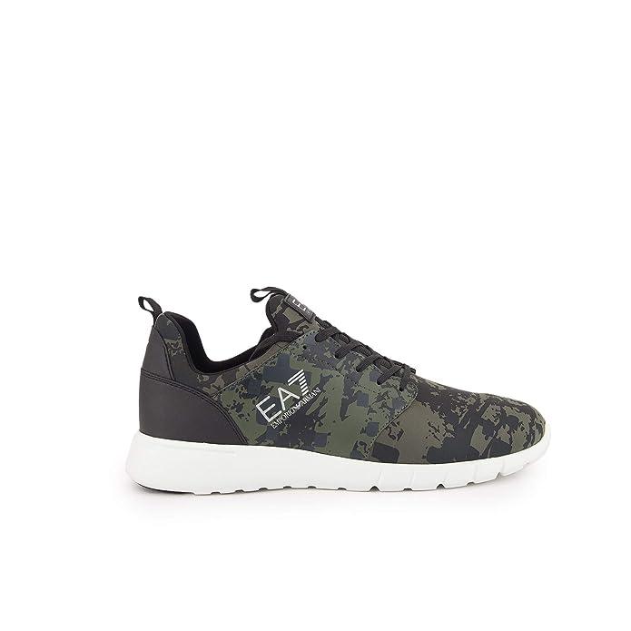 186d16f2275e Emporio Armani EA7 EA7 Camo-Print Green Trainers X8X010 XK010   Amazon.co.uk  Shoes   Bags
