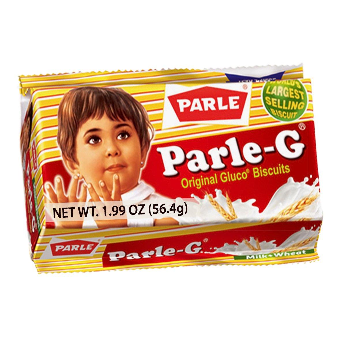 Parle-G Original Biscuits - 1.99 oz (6 Pack), Light Brown