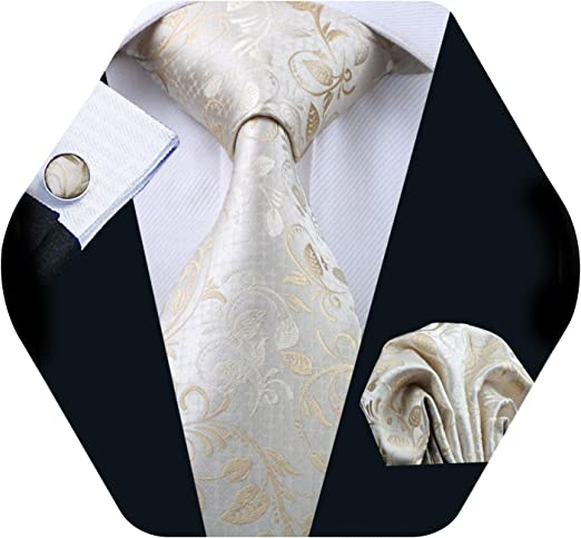 Barry Wang Classic Silk Men/'s Ties Gift Set Necktie Blue Teal Black Striped Ties