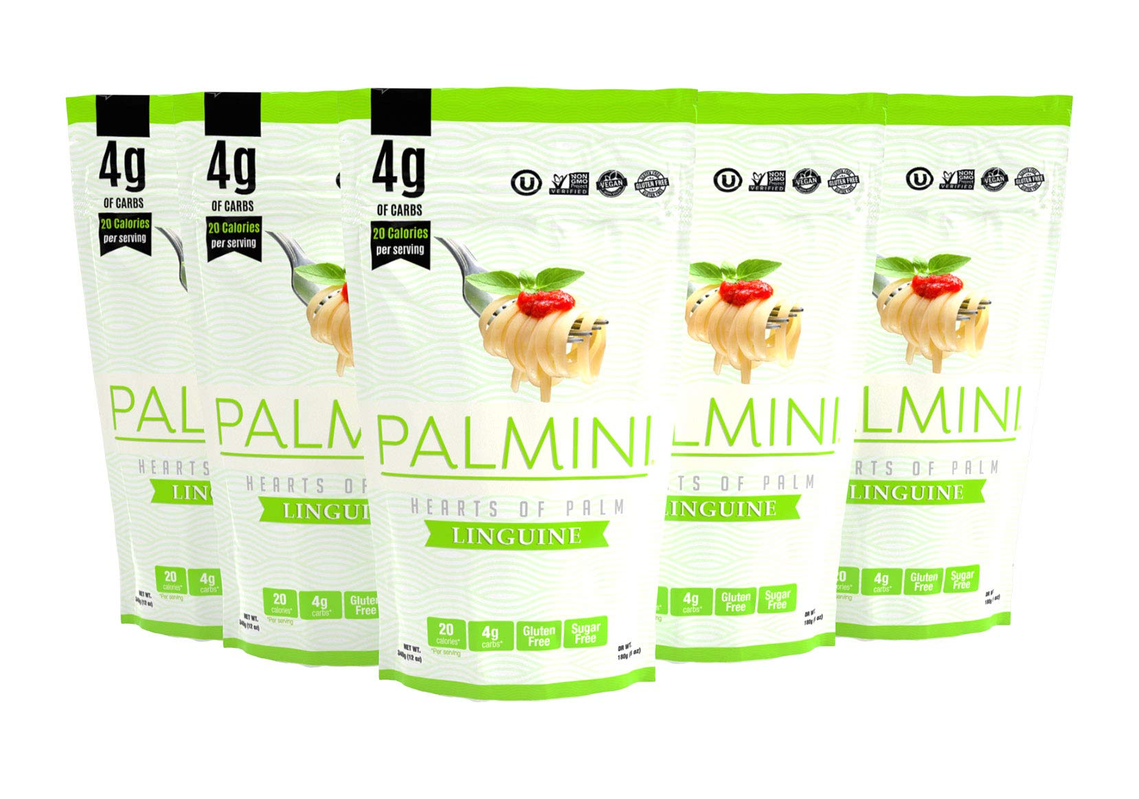 Palmini Low Carb Pasta | 4g of Carbs | As Seen On Shark Tank | 12 Oz. Pouch (6 Unit Case) by Palmini