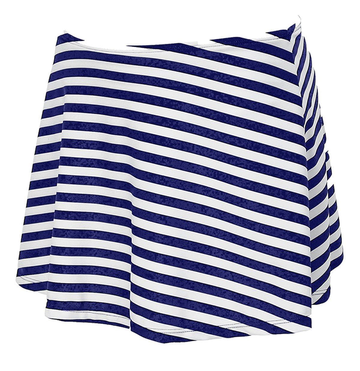 d959abc9a8bbea Azue Bikinirock mit Innenslip Schwimmrock mit Integrieter Baderock  Badeshorts für Damen und Mädchen AUZDBS1860D0000