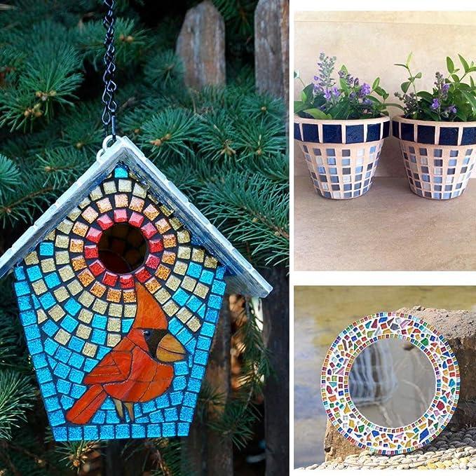 Azulejos de mosaico de cristal mezclados del color piezas de cristal irregulares para la decoraci/ón casera o los artes de DIY 200g