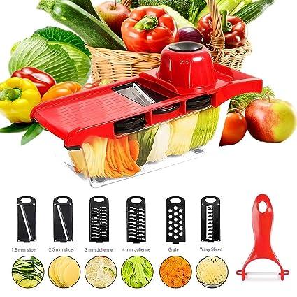 Compra Rallador de verduras surenhap Cortador de verduras de ...
