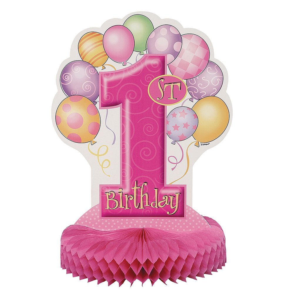 My 1st Birthday Pink Centerpiece 私の第一誕生日ピンクセンターピースハロウィンクリスマス ハニカム センターピース  B00578J5YC