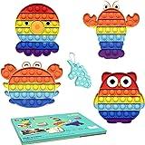 Pop Fidget Toys Pack Mini pop Autism Special Needs Stress Relief Silicone Pressure Relieving Toys Fidget Sensory Stress Ball