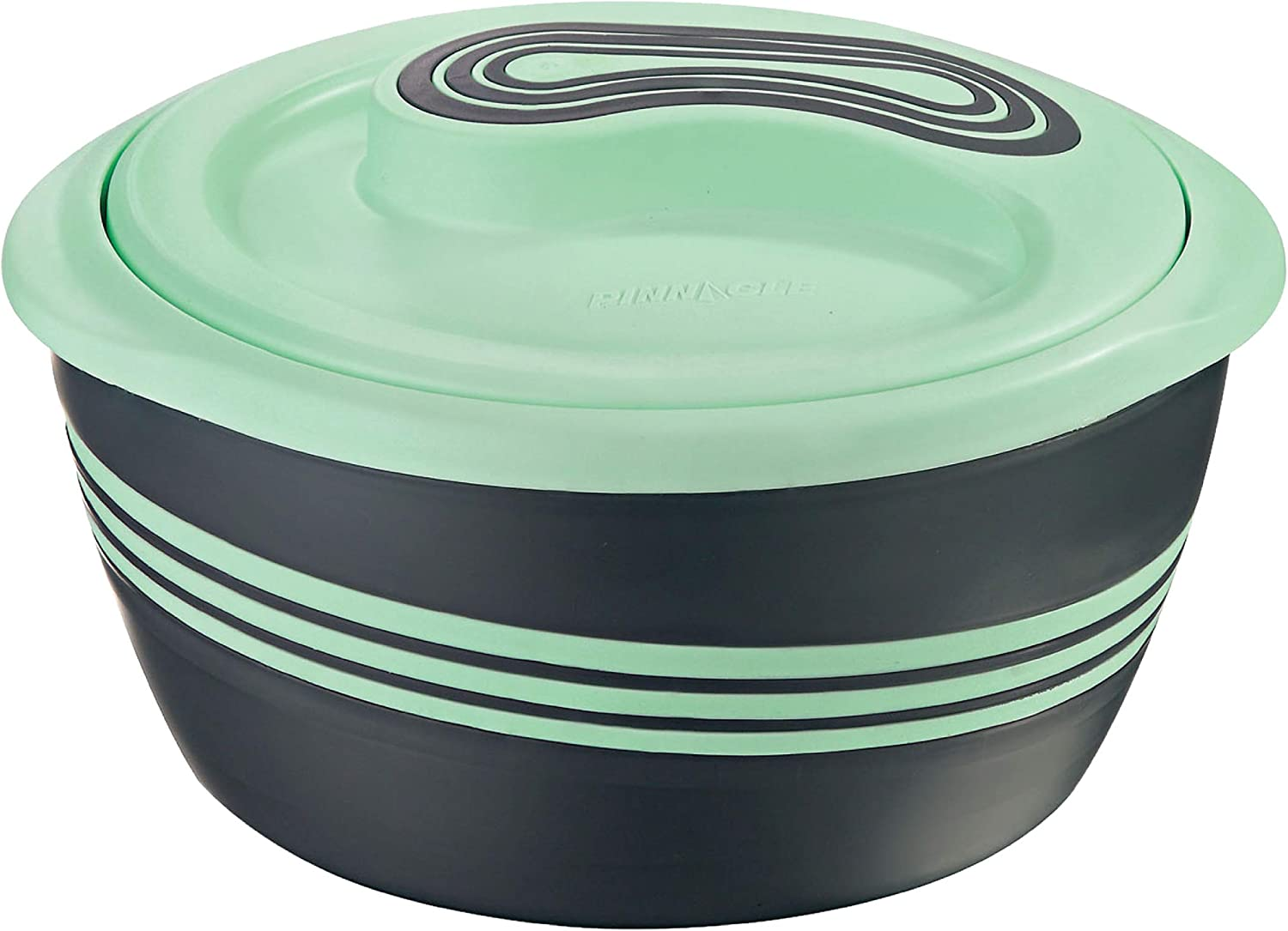 Pinnacle Serving Salad/ Soup Dish Bowl - Thermal Inulated Bowl with Lid - Great Bowl for Holiday, Dinner and Party (3.6 qt Green)