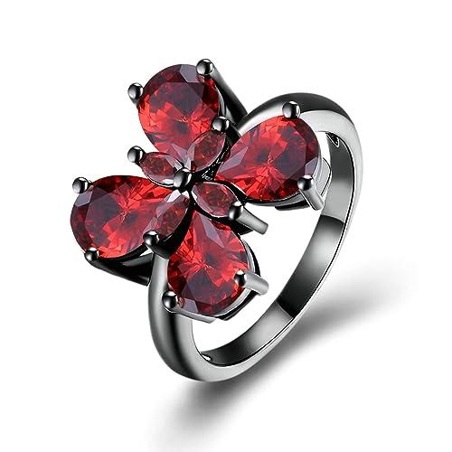 0205f35e450b daesar anillos para mujer chapado en oro talla anillos mujeres mariposa rojo  57 (18.1)