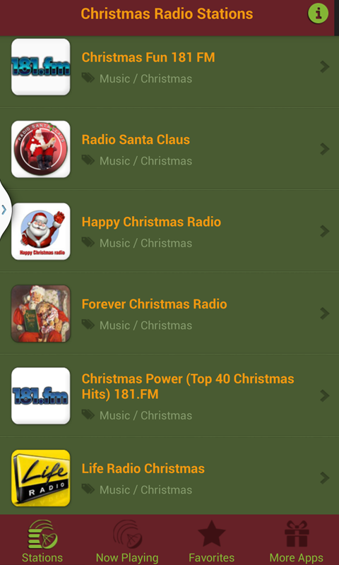 amazoncom christmas radio stations free appstore for android - What Is The Christmas Radio Station