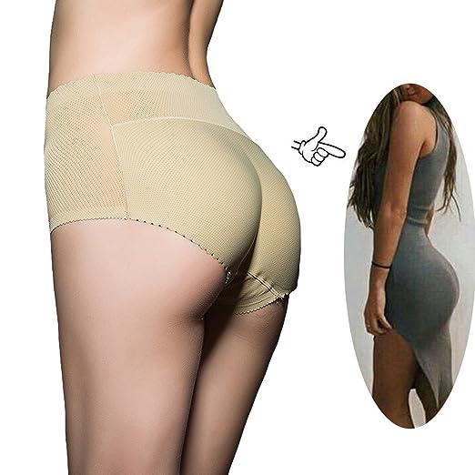 a868ee51e FLORATA Women Padded Abundant Buttocks Pants Lady Push Up Middle ...