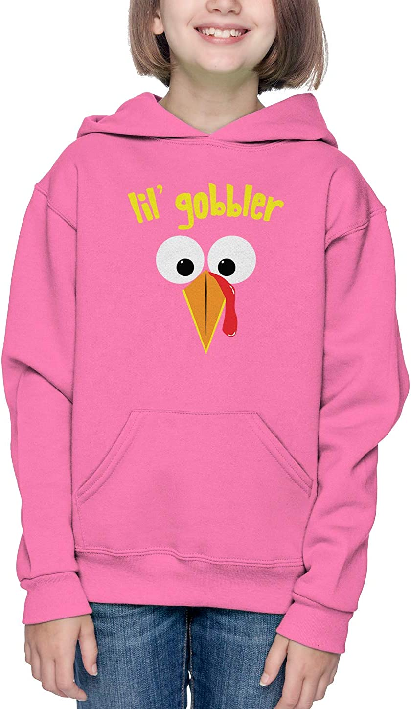 Haase Unlimited Lil Gobbler Turkey Face Thanksgiving Toddler//Youth Fleece Hoodie