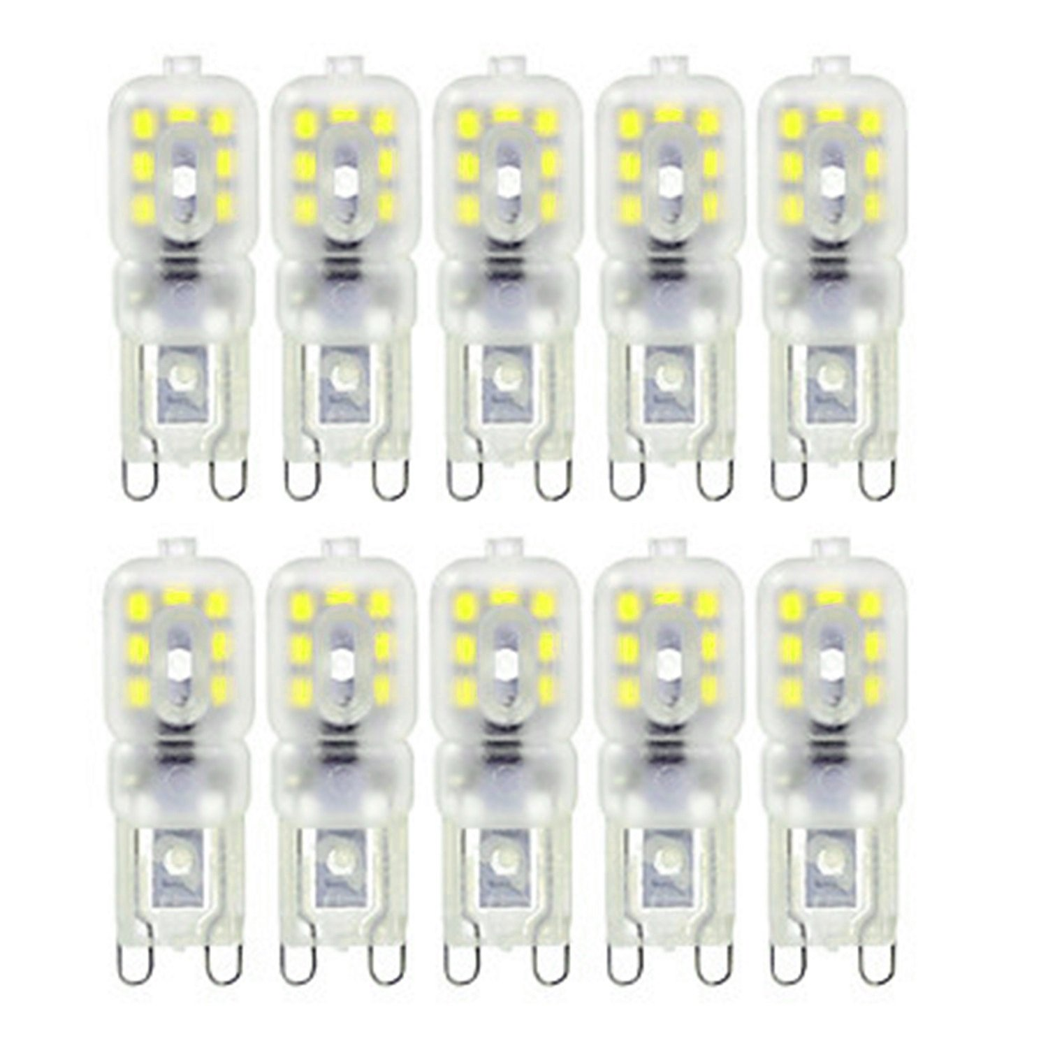 Warm White LL Dimmable 4W G9 14LED 2835SMD 300-400 Lm Cool White Decorative LED Bi-pin Lights AC 220-240V (10-Pack) (Size   Warm White)