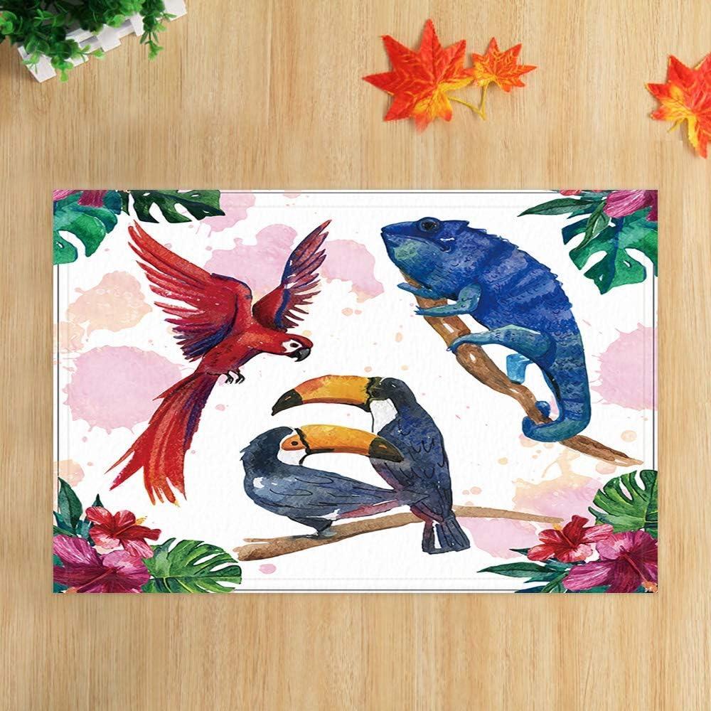 AdaCrazy Tappeti da bagno Festival di Natale Cane divertente con confezione regalo di Capodanno in tappetino doccia neve 15.7X23.6in Zerbino per arredamento casa Tappeto da bagno