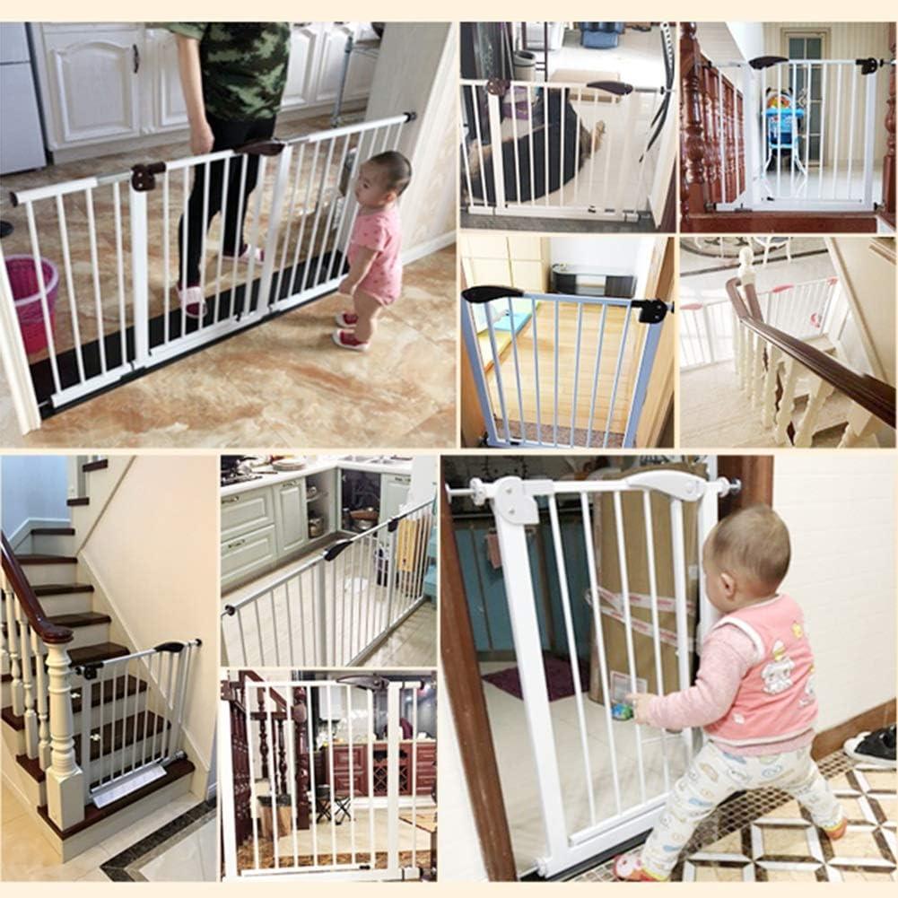 ZEMIN Barrera De Seguridad Escalera Puerta For Niños Perros Ajuste A Presión Aislamiento Proteccion Automático, H 78CM (Color : White, Size : 255cm-264cm): Amazon.es: Hogar