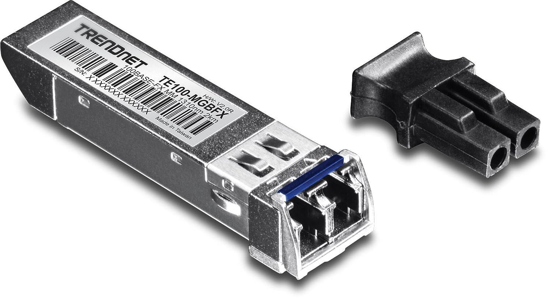 TRENDnet 10G-SR SFP+ module, Multi-Mode, LC Transceiver Module, Up to 550 m, TEG10GBSR TEG-10GBSR