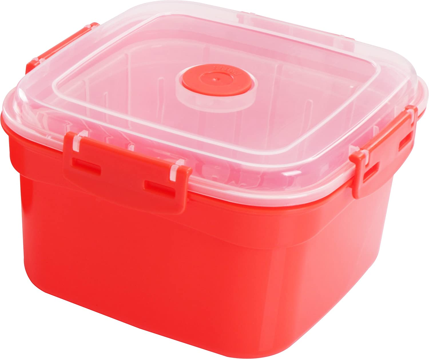 Utopia Kitchen Microwave Steamer and Storage Container (2.11 Quarts) - Dishwasher and Freezer Safe - BPA-Free PP Material UK0229
