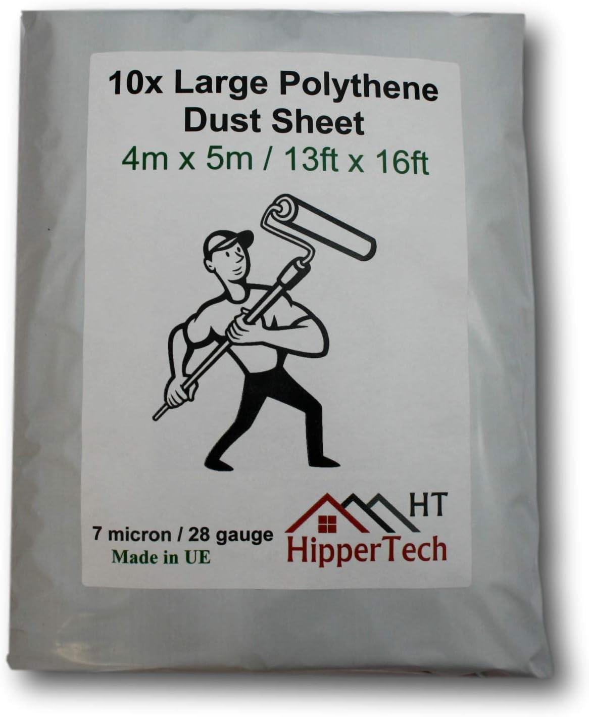 HipperTech Grande feuille en plastique poly/éthyl/ène 4 m x 5 m