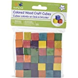 """Craftwood Wooden Cubes 5/8"""" 36/Pkg-Colored"""