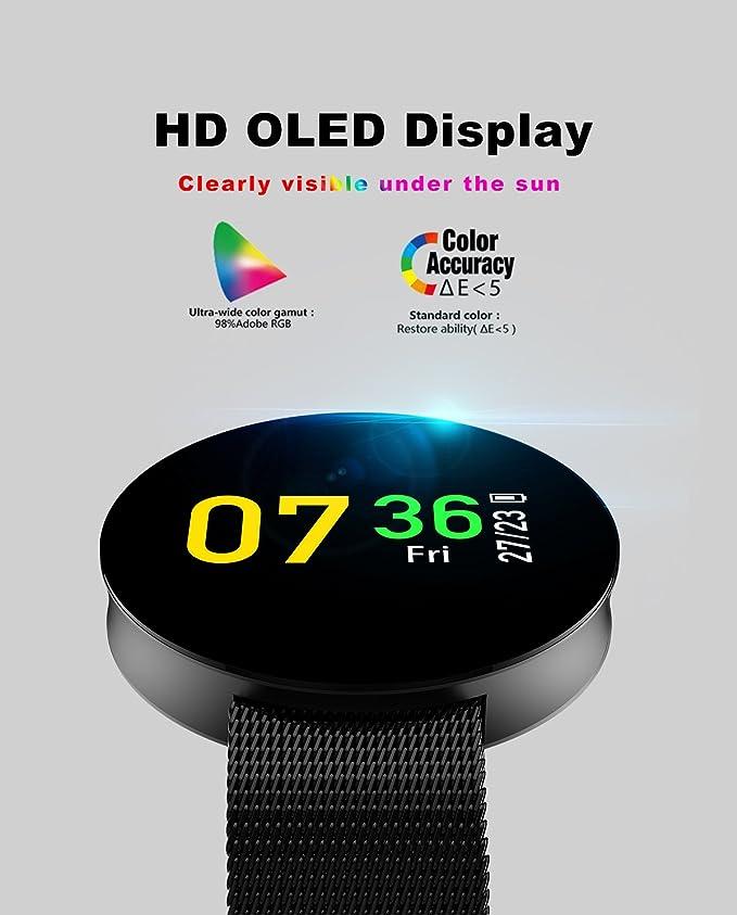 Kapel Reloj Inteligente IP67 Impermeable Pantalla Táctil OLED 0,95 Pulgadas 96 x 64 Pixel Batería Duradera 120mAh Memoria 64KB +512KB Bluetooth 4.0 Soporta ...