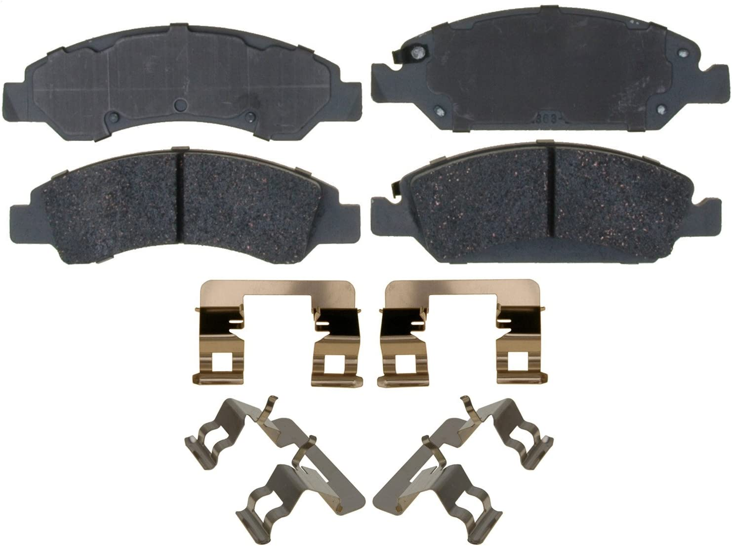 Disc Brake Pad Set-Ceramic Disc Brake Pad Front ACDelco Advantage 14D1367CH