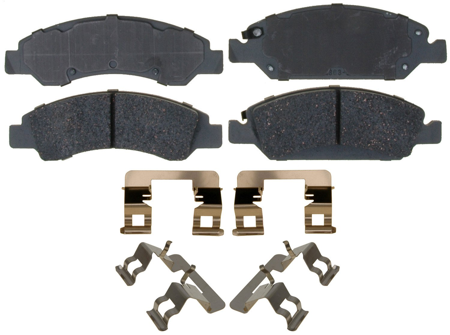 ACDelco 14D1363CH Advantage Ceramic Front Disc Brake Pad Set with Hardware by ACDelco