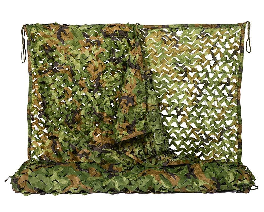 子供のための迷彩ネット、グリーン2mx3mウッドランド迷彩ネット補強軍事軍隊4m迷彩射撃場キャンプ屋外隠すカーカバー庭の装飾 (Size : 4*10M)  4*10M