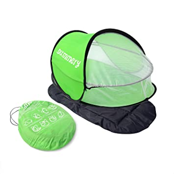Summery baby travel bed Portable baby beach tent UPF 35+ sun shelter pop  sc 1 st  Amazon.com & Amazon.com : Summery baby travel bed Portable baby beach tent UPF ...