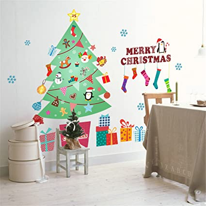 vanbest christmas tree gift wind chimes wall decals home living room bedroom childrens room tv background - Christmas Tv Decoration