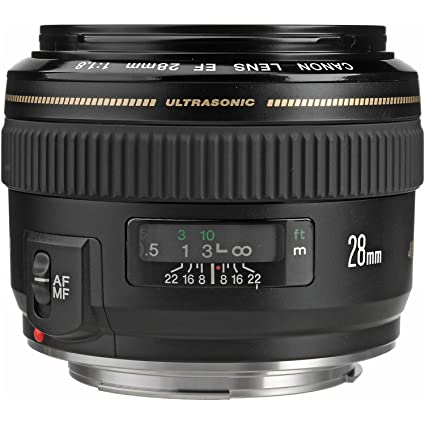 amazon com canon ef 28mm f 1 8 usm wide angle lens for canon slr