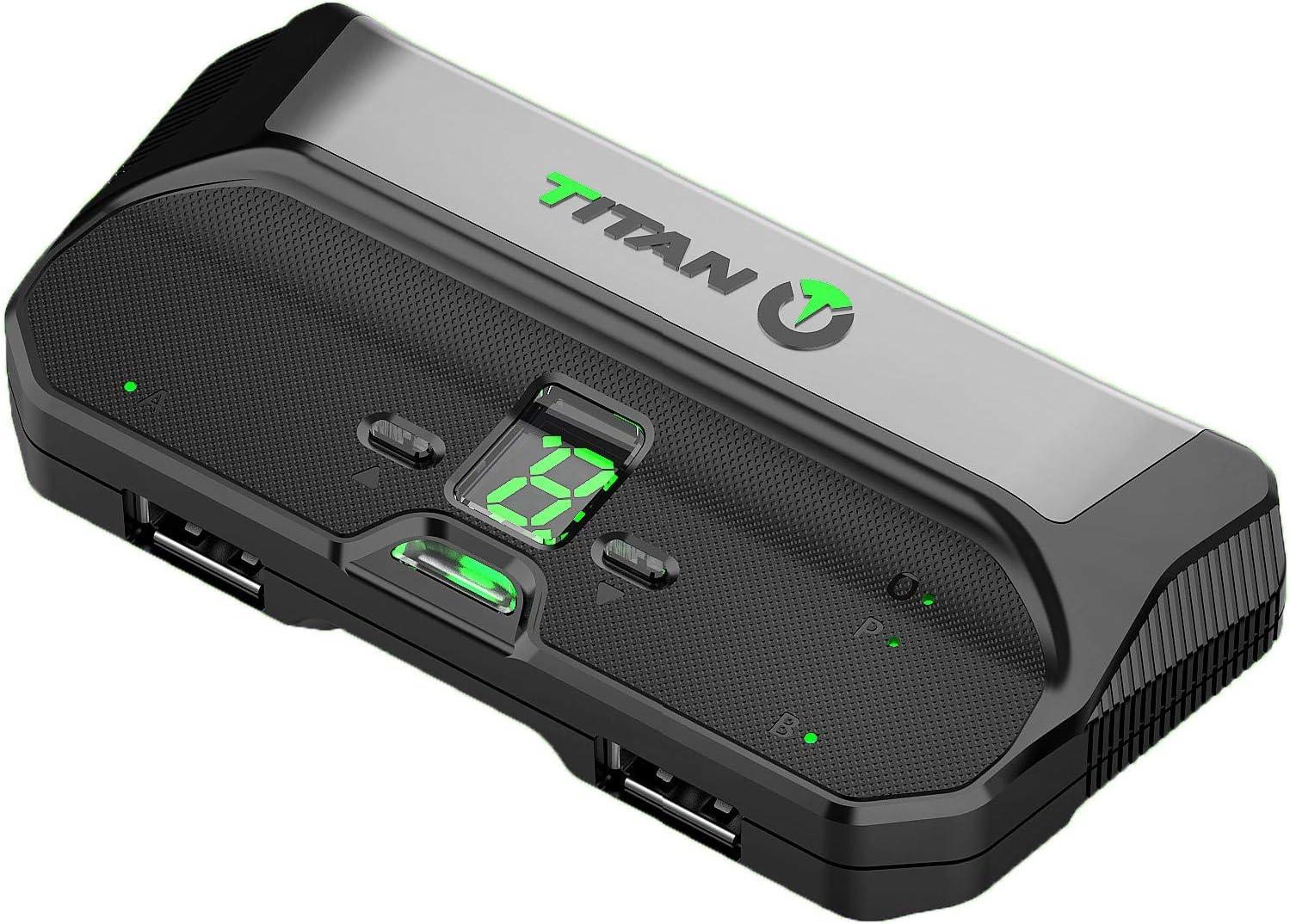 Titan Two Device [Scripts programables, macros, modificaciones, reasignación, teclado, mouse] Adaptador y convertidor avanzado de juegos cruzados avanzados para PlayStation 4 PS3 Xbox One 360