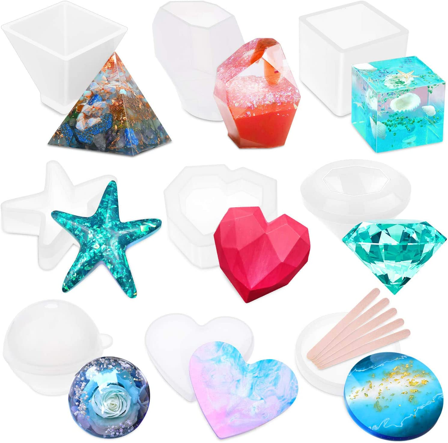 Food Grade Silicon Mould Solid Silicone Mold Shiny Silicone Mold Resin Crafting Mold Ocean Sail Silicone Mold Resin Craft
