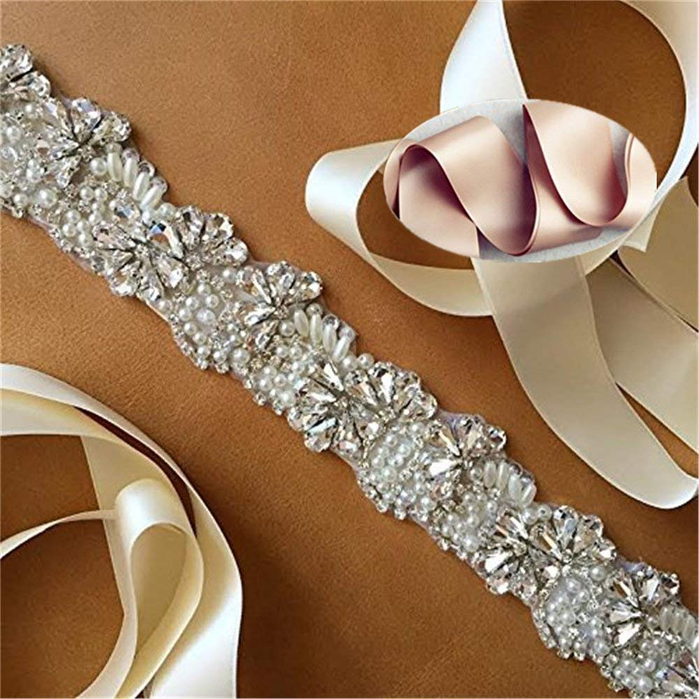 QueenDream rhinestone belts for kids champagne rhinestone belt womens rhinestone belt rhinestone bridal sash crystal sash