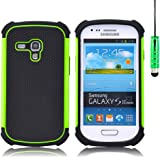 32nd Shock Proof Defender Heavy Duty Protective Case Cover for Samsung Galaxy S3 Mini (Siii Mini) - Green