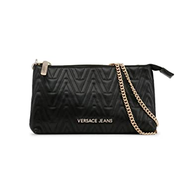 ffebea38ff9 Versace Jeans Steph Black Quilted Mini Cross-Body Bag Black Leather ...