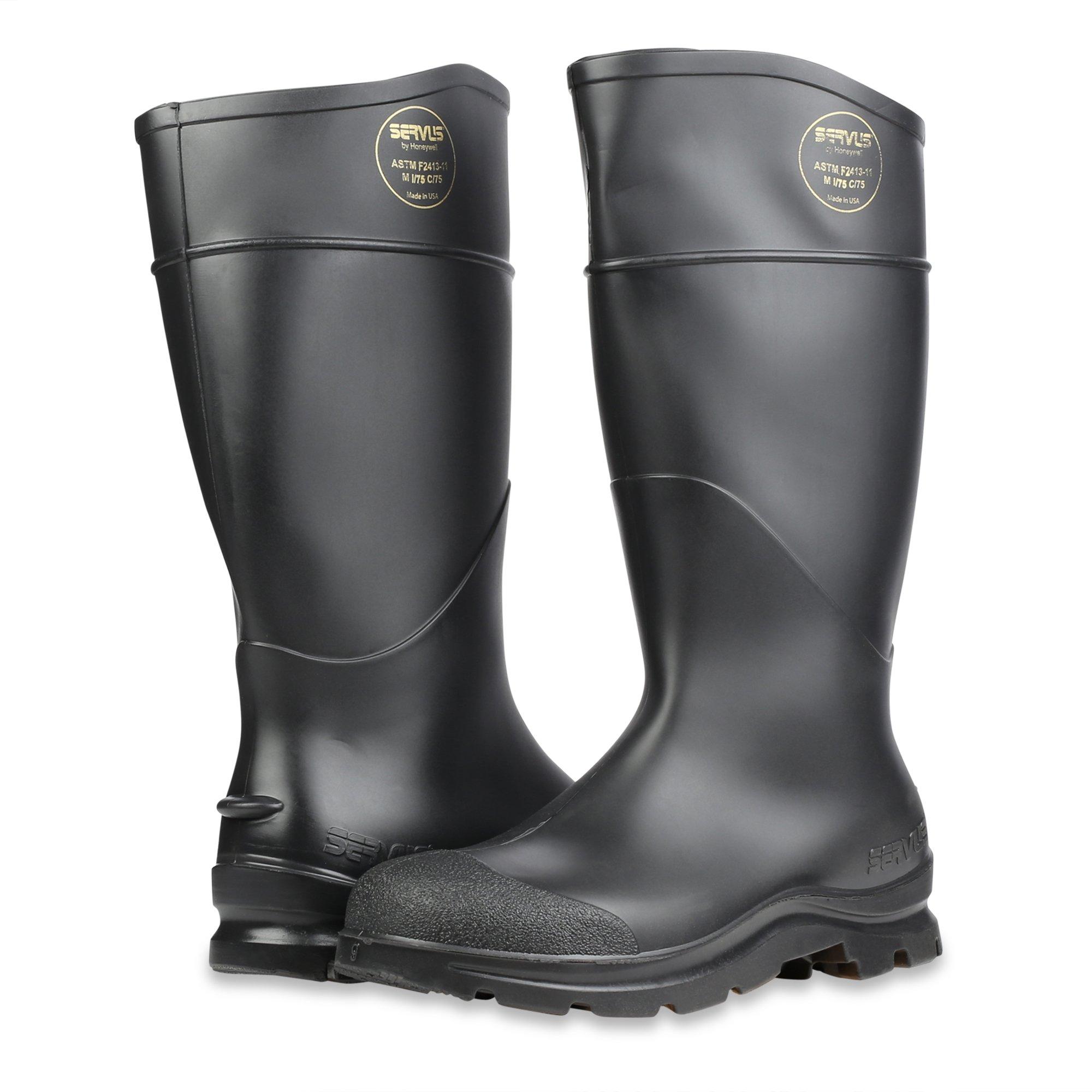 Servus Comfort Technology 14'' PVC Steel Toe Men's Work Boots, Black, Size 10 (18821) by Servus (Image #6)