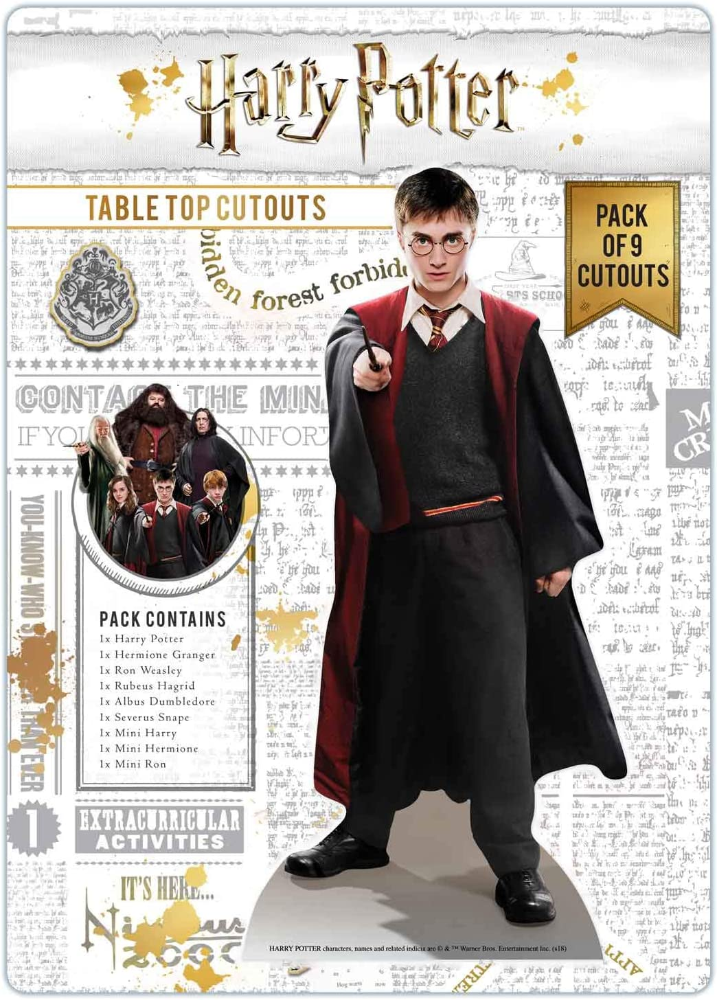 Star Cutouts Ltd TT008 Wizarding World Desktop and Table Top Pack Perfect for Parties, Harry Potter Room Accessories and Collectors, Multicolour, Regular