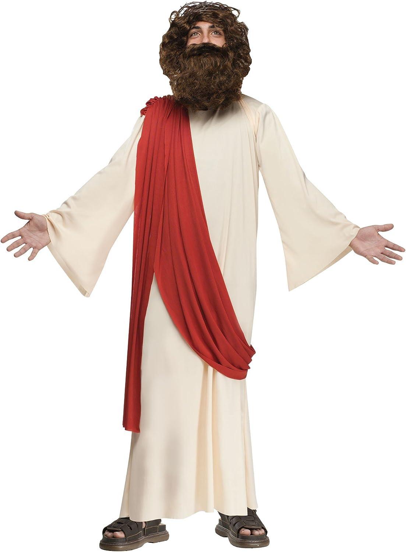 Fun World Costumes Boy's Child Complete Jesus Costume, Tan, Medium 713EOo1dM2BL