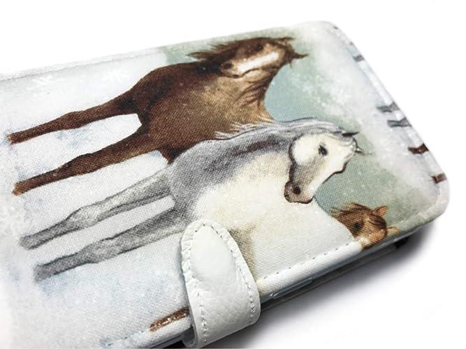 best authentic fcd32 09f75 Amazon.com: Moto Z2 Play case horse wallet case for Motorola phone ...