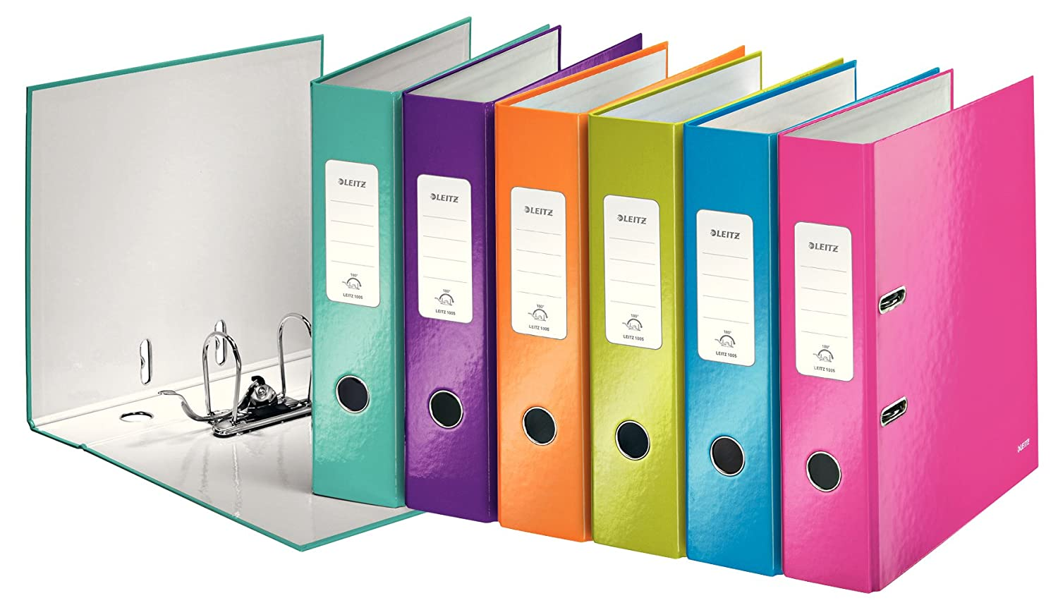 Leitz Lever Arch File, Pearl white, A4, 80mm spine width, WOW Range, 10050001 Esselte