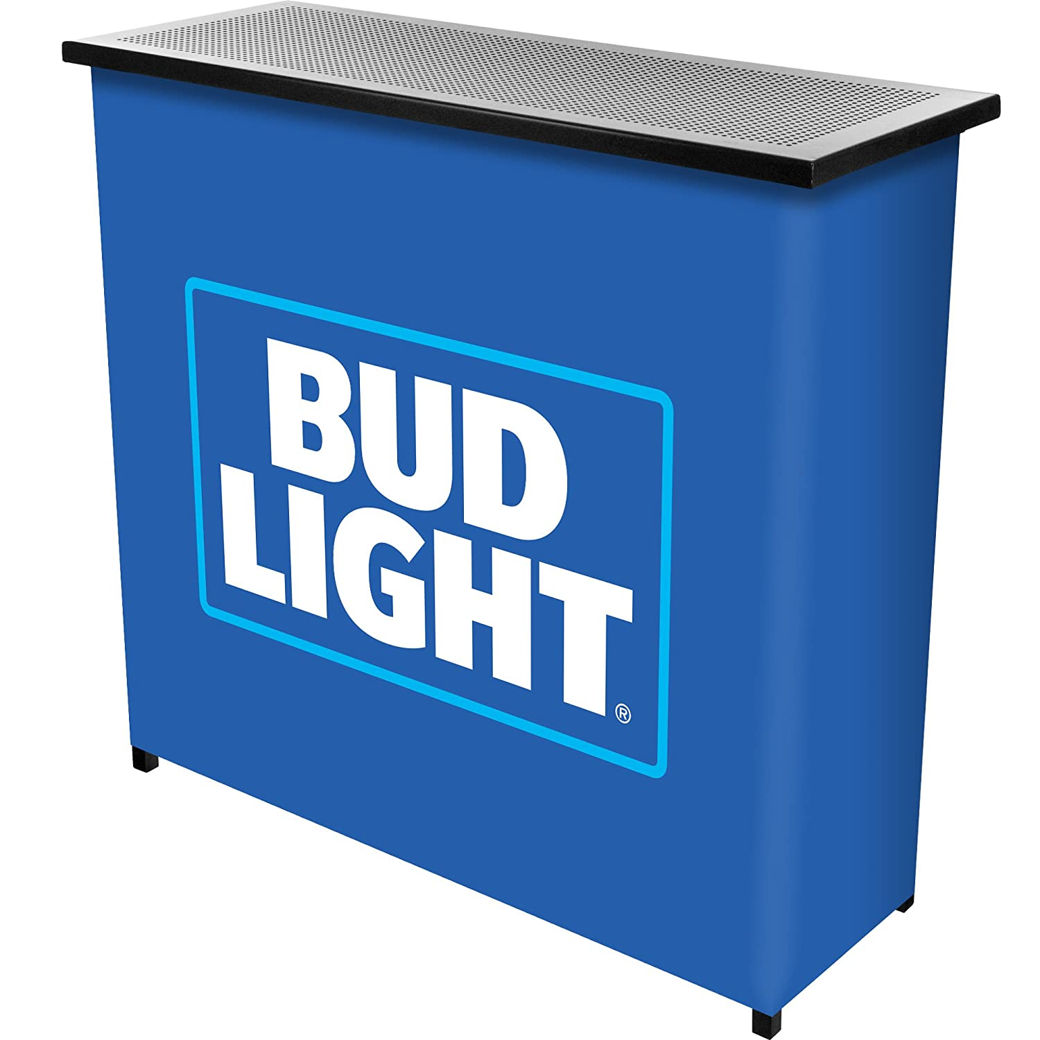Bud Light Two Shelf Portable Bar with Case Trademark Global AB8000-BL
