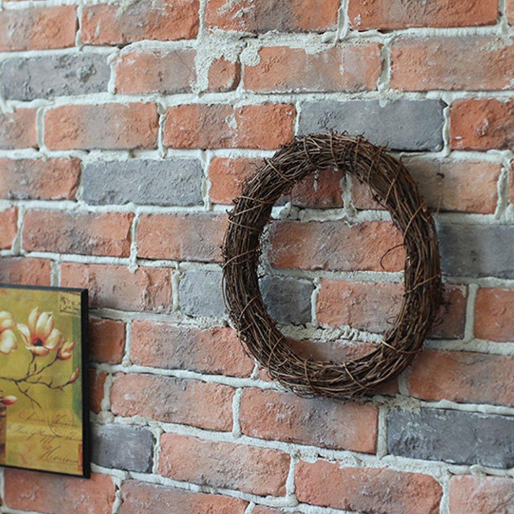 fiestas Halloween Corona de rat/án para Navidad guirnalda de rat/án natural seca decoraci/ón de madera para colgar en la pared de la puerta del hogar 10 cm As Picture Show