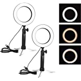 EMART 6'' LED Ring Light with Tripod Stand, 3 Light Modes & 11 Brightness Level Photography Continuous Portable Lighting Kit