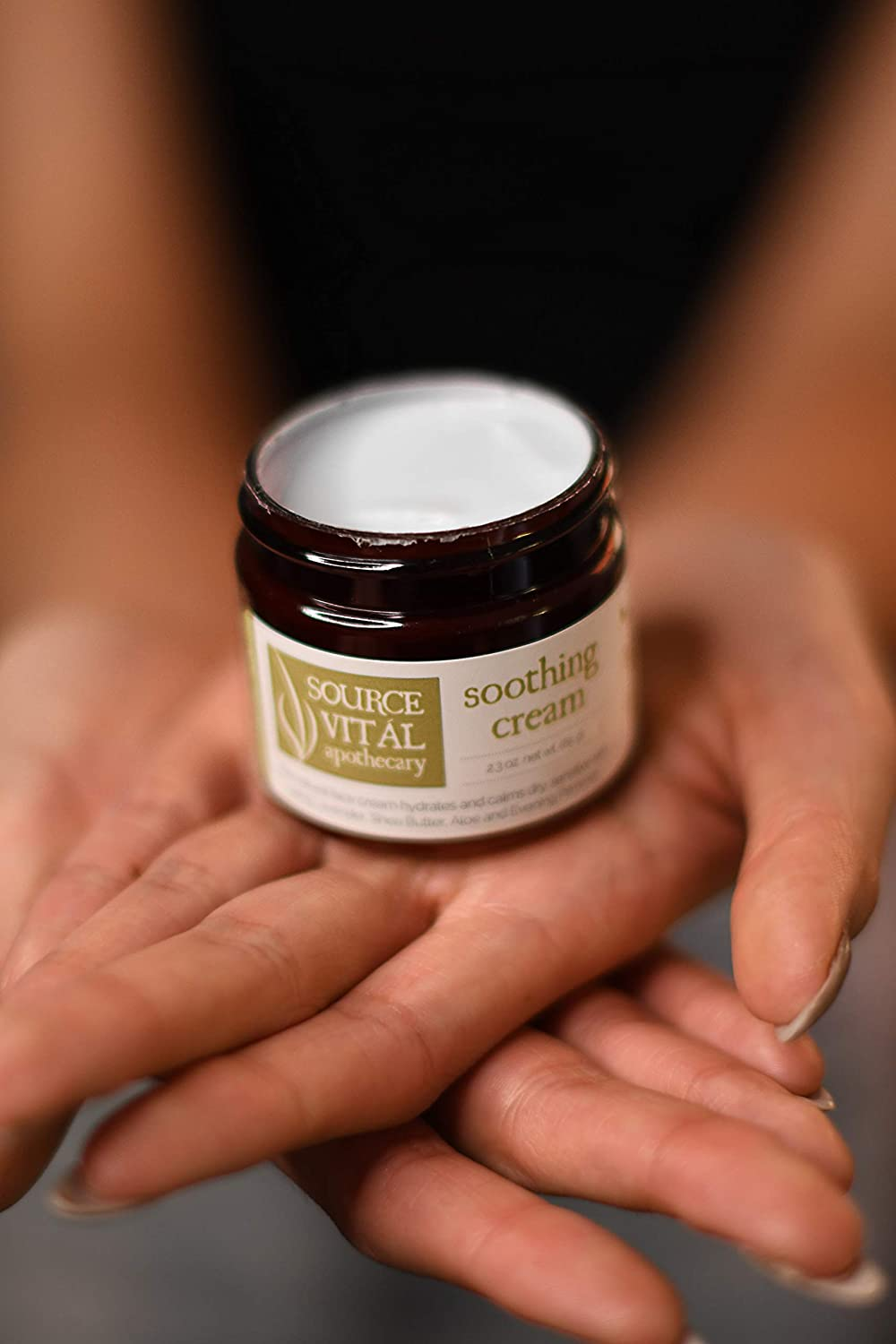 Source Vit l Apothecary Soothing Cream Ultra Soothing Facial Cream For Dry and Sensitive Skin 2.3 oz