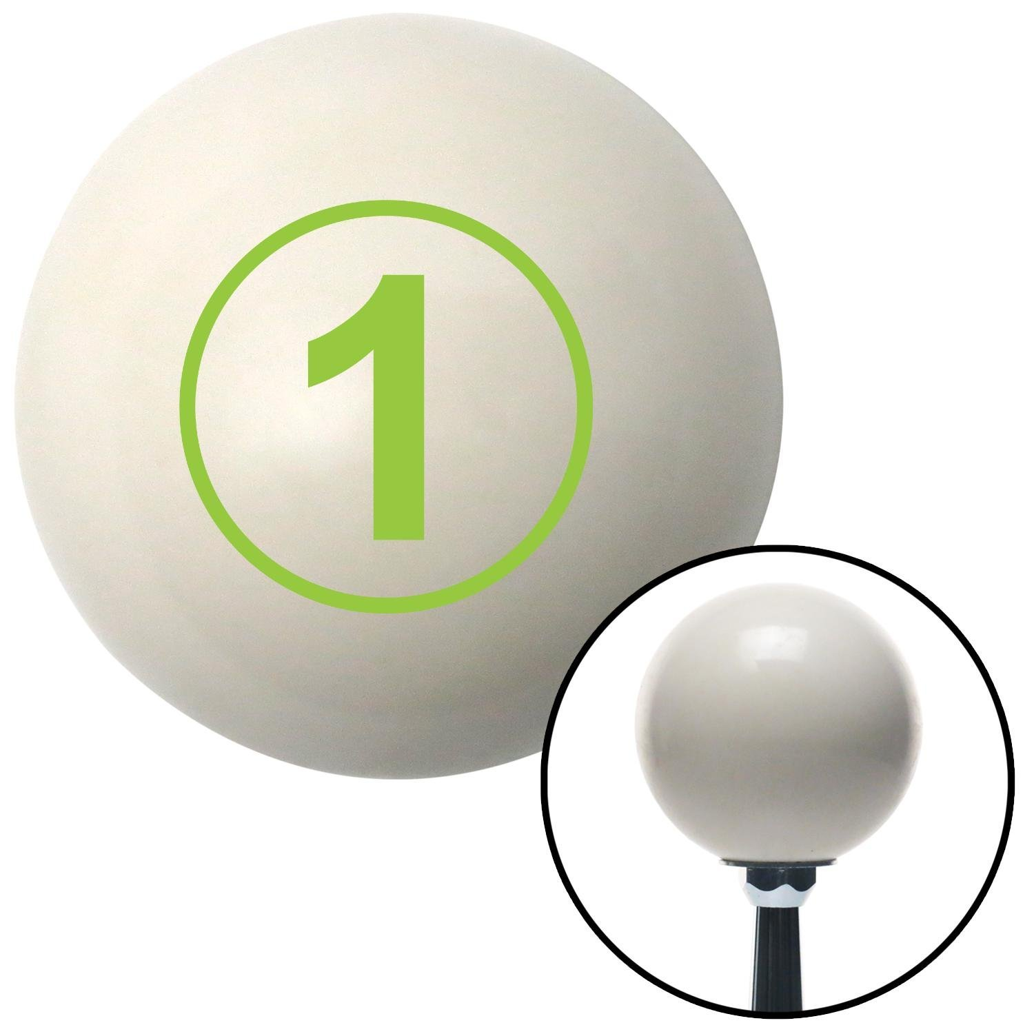 American Shifter 30277 Ivory Shift Knob with 16mm x 1.5 Insert Green Ball 1
