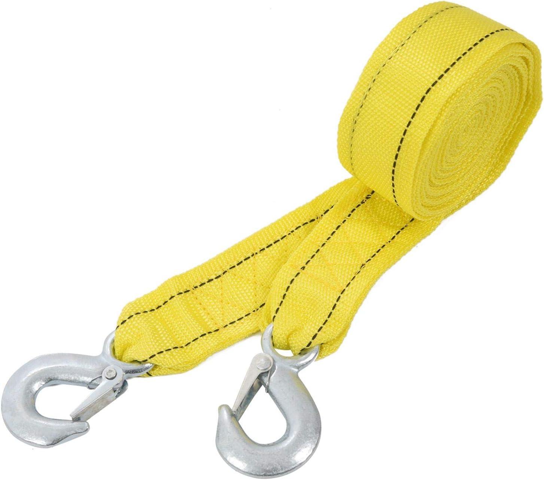 Fanuse 4M Le Cable De Remorquage De Voiture R/éSistant De 5 Tonnes Remorquant La Courroie De Corde De Traction Crochets La R/éCup/éRation De De Van