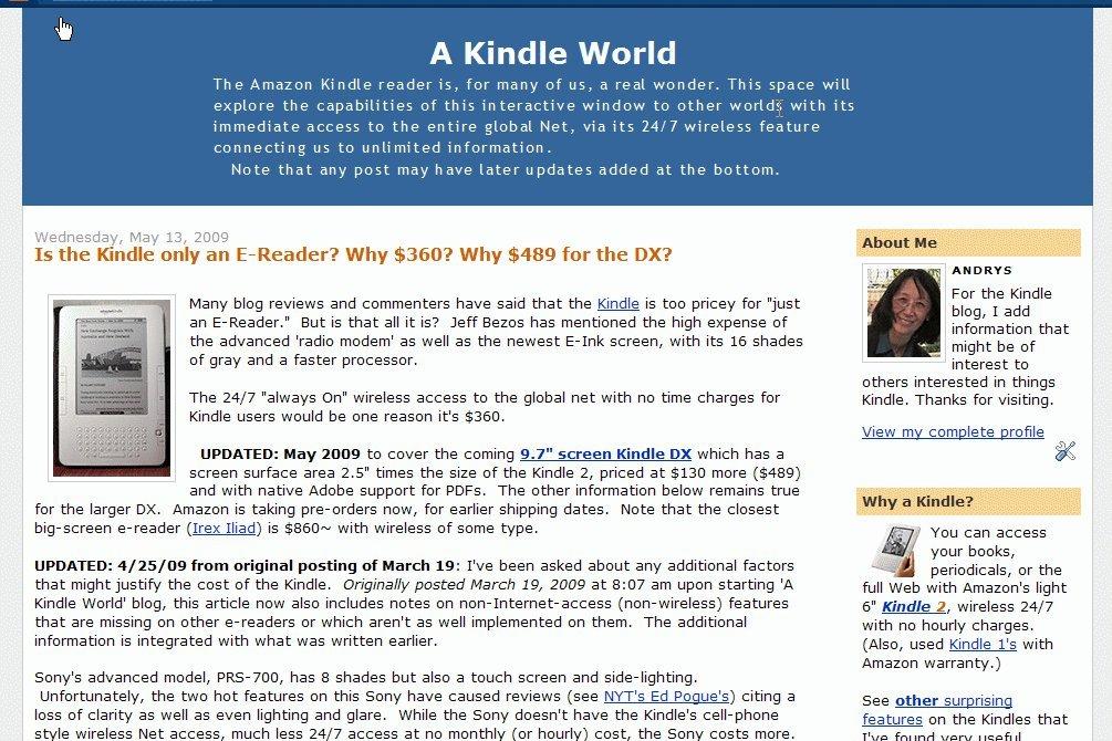 A Kindle World Blog: Amazon co uk: Kindle Store