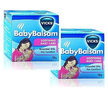 Amazon.com: Pack 2 Vicks vaporub Baby Bálsamo Soothing el ...