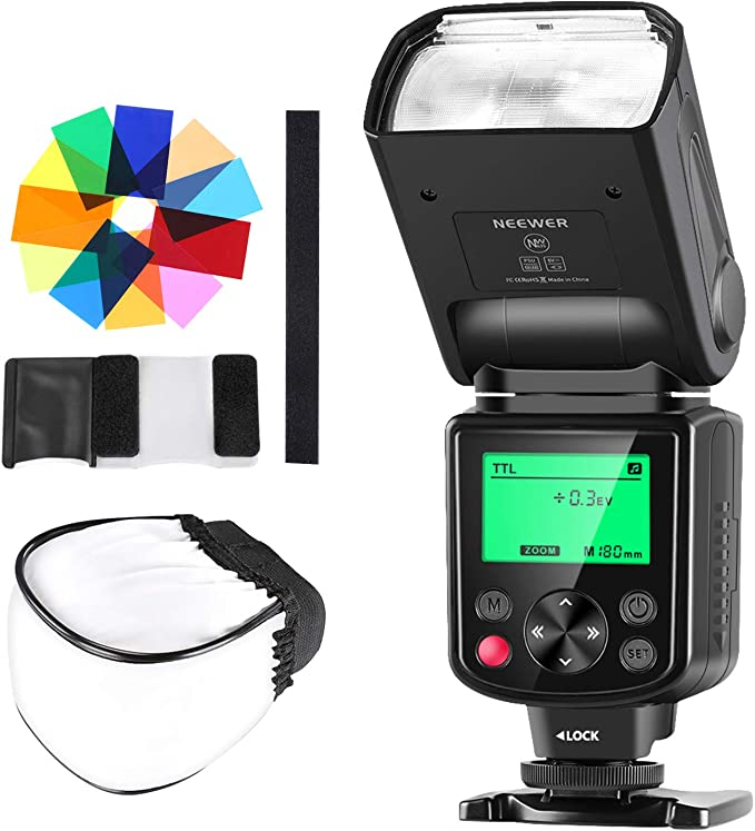 Neewer Nw 670 Ttl Speedlite Blitzgerät Mit Kamera