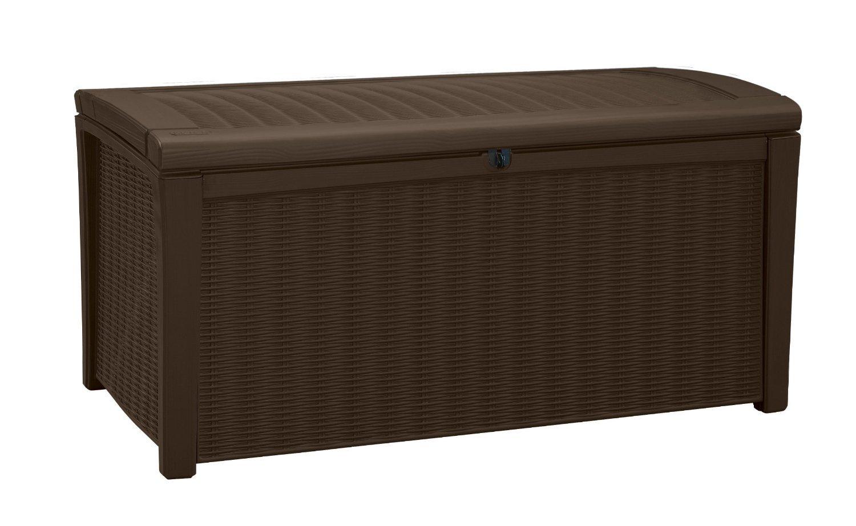 デッキボックスforパティオプールストレージベンチで樹脂110ガロンExtra Largeアウトドアデザイン B01N9UF3JV