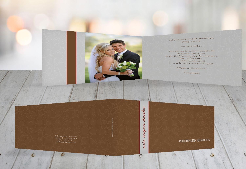 Kartenparadies Danksagung für Hochzeitsgeschenke Dankeskarte Für immer, hochwertige Danksagungskarte Hochzeitsglückwünsche inklusive Umschläge   20 Karten - (Format  215x105 mm) Farbe  MatschgruenDunkel B01N24VTT3 | Neueste Techno